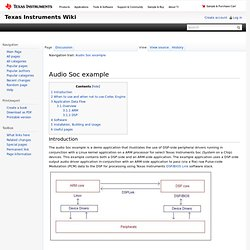 Audio Soc example - Texas Instruments Embedded Processors Wiki - Iceweasel