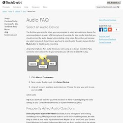 Audio FAQ