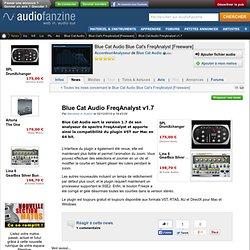 News Blue Cat Audio FreqAnalyst v1.7