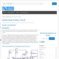 Audio level meter circuit - VU Level Meter
