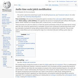 Audio time-scale/pitch modification - Wikipedia
