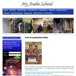 My Audio School » List of unblocked titles