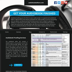 Audio Book Recording & Production Services - Audiobookeditors.com