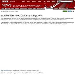 Audio slideshow: Dark sky stargazers