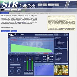 SIR Audio Tools / SIR2 / Product Details