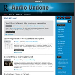 Audio Undone