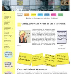Audio & VIdeo in the Classroom