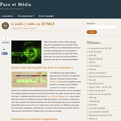 L'audio / vidéo en HTML5