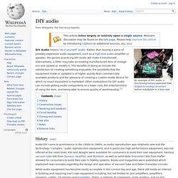 DIY audio - Wikipedia, the free encyclopedia