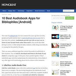 10 Best Audiobook Apps for Bibliophiles [Android]