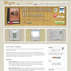 Audiobook Builder: Create Audiobooks on Your Mac