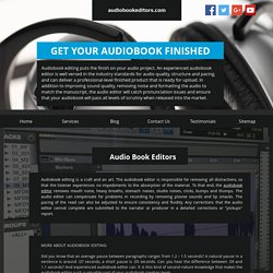 Compare Best Audio Books Services - Audiobookeditors.com