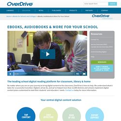 OverDrive - Global distributor of digital eBooks, audiobooks, music & video for library, school & retail