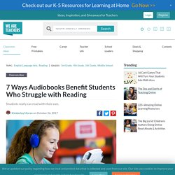 Audiobooks help Struggling Readers