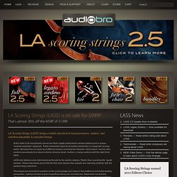 welcome to audiobro | home of LA scoring strings