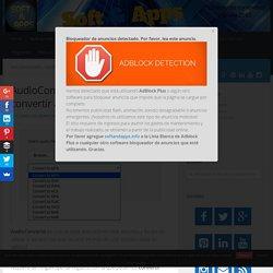 AudioConverto: utilidad web para convertir archivos de audio