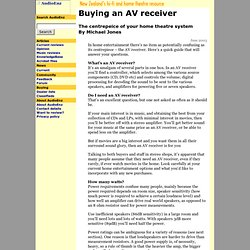 AudioEnz - Buying an AV receiver