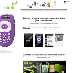 KIPMI : Audioguide du Voyageur - Applications et solution multimédia