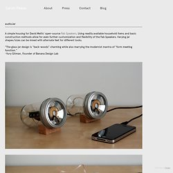 audioJar - SARAH PEASE DESIGN