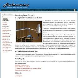 Le microphone de A à Z