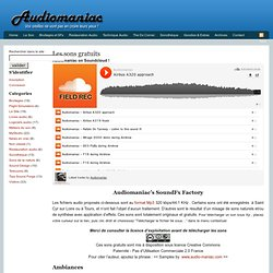 Audiomaniac| Les sons gratuits