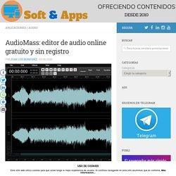 AudioMass: editor de audio online gratuito y sin registro
