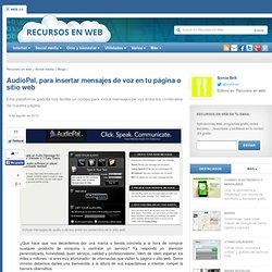 AudioPal, para insertar mensajes de voz en tu sitio o página web