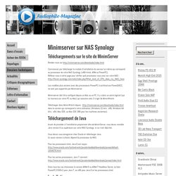 AUDIOPHILE MAGAZINE - Minimserver sur NAS Synology