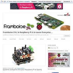 Système audiophile Allo pour Raspberry Pi et Sparky - Framboise 314, le Raspberry Pi à la sauce française....