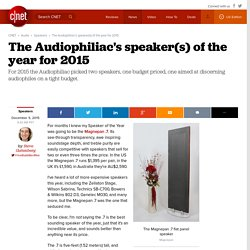 The Audiophiliac's speaker(s) of the year for 2015