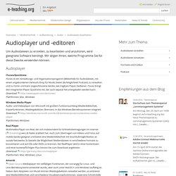 Audioplayer und -editoren