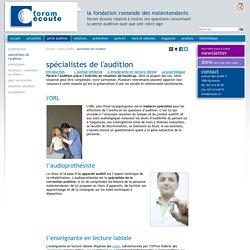 Médecin ORL, audioprothésistes et enseignantes en lecture labiale