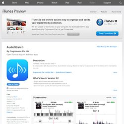 AudioStretch on the App Store on iTunes