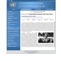 ited Nations Audiovisual Library of International Law