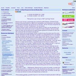 site cinéma audiovisuel de l'académie de Grenoble - Articles - La Rose Pourpre du Caire de Woody Allen