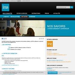 Ina SUP - école de l'Institut National de l'Audiovisuel - enseignement supérieur