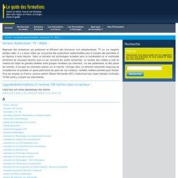 Les métiers du secteur Audiovisuel -TV - Radio -, découvrez toutes les formations sur Le Guide Des Formations