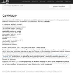 Licence pro TAIS - CIAN Audiovisuelle Multimédia - Licence professionnelle Internet Audiovisuel Numérique
