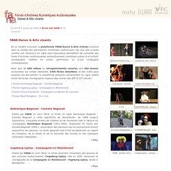 FANA (Fonds d'Archives Numériques Audiovisuelles en danse contemporaine)