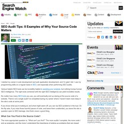 SEO Audit Tips: 8 Examples of Why Your Source Code Matters
