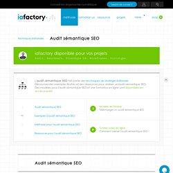 Audit sémantique SEO — IAFACTORY