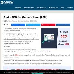 Audit SEO [Guide Ultime] - 8 Etapes pour Auditer votre Site Web!