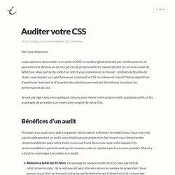Auditer votre CSS