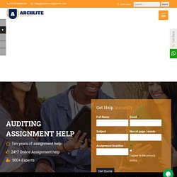 Auditing Assignment Help - Online Writing Services for UK Students