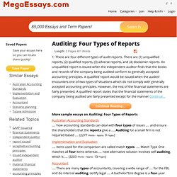 Auditing: Four Types of Reports essays