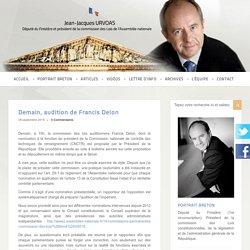 Communiqué de Jean-Jacques Urvoas sur la candidature de F.Delon