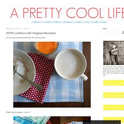 a pretty cool life.: SYTYC audition craft: Gingham Placemats