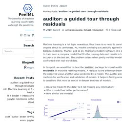 auditor: a guided tour through residuals