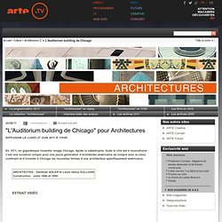 """L'Auditorium building de Chicago"" pour Architectures"