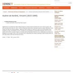 Audren de Kerdrel, Vincent (1815-1899) - Bérose